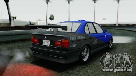 BMW M5 E34 US-spec 1994 (Full Tunable) pour GTA San Andreas vue de dessus