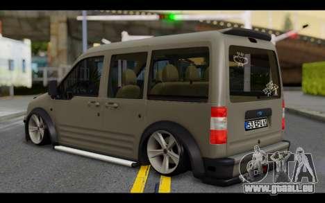 Ford Connect Rizeli pour GTA San Andreas laissé vue
