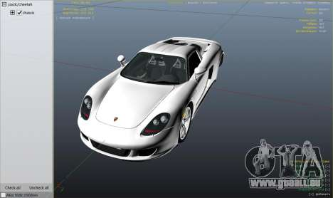 GTA 5 Porsche Carrera GT 2.0 rechte Seitenansicht