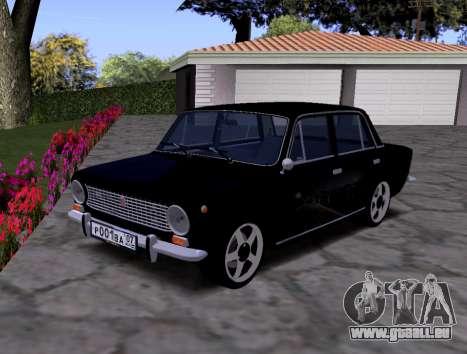 VAZ 2101 KBR pour GTA San Andreas vue arrière