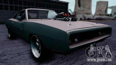 Dodge Charger RT 1970 FnF7 pour GTA San Andreas vue de droite