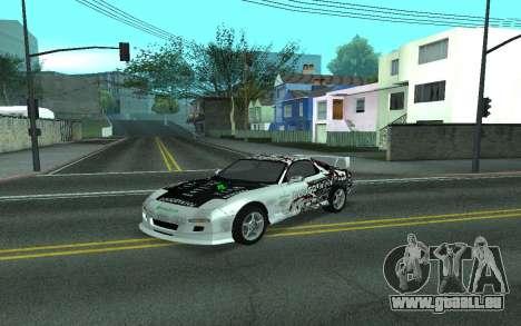 Mazda RX-7 Tunable für GTA San Andreas Rückansicht