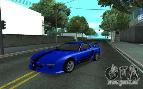 Mazda RX-7 Tunable pour GTA San Andreas vue de côté