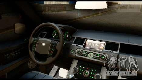 Range Rover Sport 2012 für GTA San Andreas Innenansicht