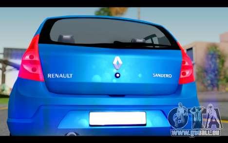 Renault Sandero für GTA San Andreas Innenansicht