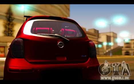 Nissan March 2011 Hellaflush pour GTA San Andreas vue intérieure