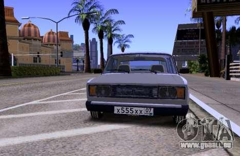 VAZ 2105 KBR für GTA San Andreas Innenansicht