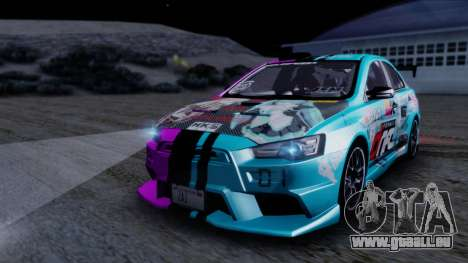 Mitsubishi Lancer Evolution X Tunable New PJ für GTA San Andreas obere Ansicht