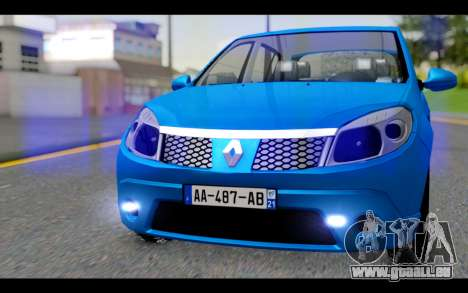 Renault Sandero für GTA San Andreas Rückansicht