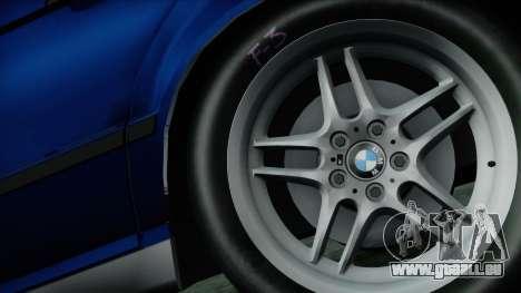 BMW M5 E34 US-spec 1994 (Full Tunable) pour GTA San Andreas sur la vue arrière gauche