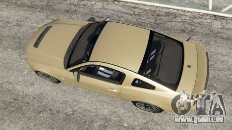 GTA 5 Ford Mustang Shelby GT500 2013 v2.0 vue arrière