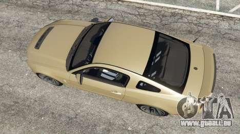 GTA 5 Ford Mustang Shelby GT500 2013 v2.0 Rückansicht