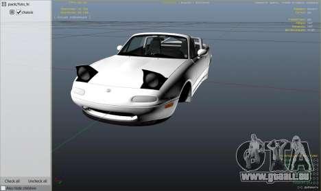 Mazda Miata MX5 Stance edition pour GTA 5
