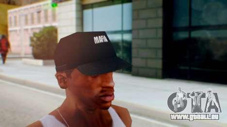 Mafia Cap Black White pour GTA San Andreas deuxième écran