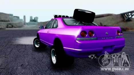 Nissan Skyline R33 Rusty Rebel pour GTA San Andreas laissé vue
