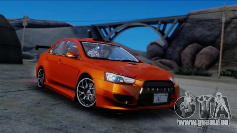 Mitsubishi Lancer Evolution X Tunable New PJ pour GTA San Andreas vue de droite