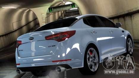 Kia Optima pour GTA 4 Vue arrière de la gauche