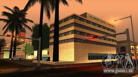 LSPD, All Saints Hospital & Skyscrapers 2016 für GTA San Andreas zweiten Screenshot
