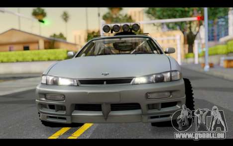 Nissan Silvia S14 Rusty Rebel für GTA San Andreas Rückansicht