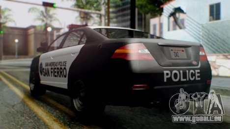 GTA 5 Police SF pour GTA San Andreas laissé vue