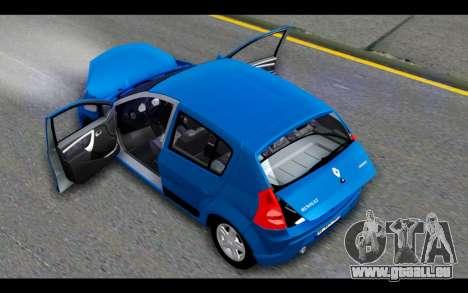 Renault Sandero für GTA San Andreas obere Ansicht