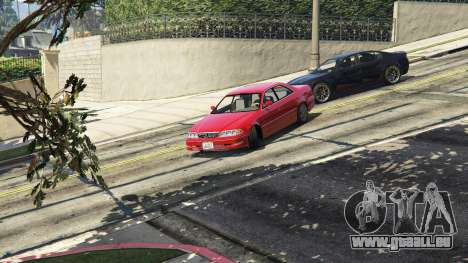 GTA 5 Toyota Mark II JZX100 Tunable Rückansicht