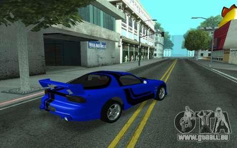 Mazda RX-7 Tunable pour GTA San Andreas vue de dessus