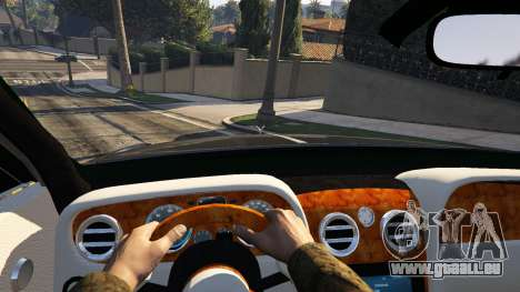 GTA 5 Rolls Royce Ghost 2014 arrière droit vue de côté