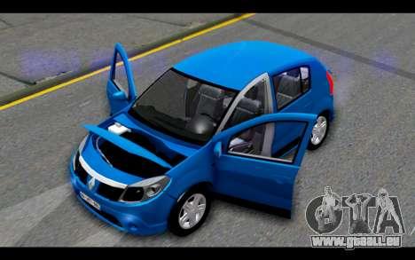 Renault Sandero für GTA San Andreas Seitenansicht