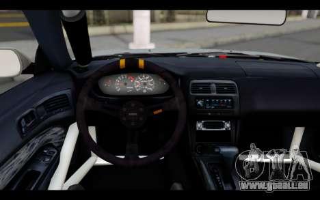 Nissan Silvia S14 Rusty Rebel pour GTA San Andreas sur la vue arrière gauche
