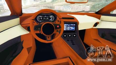 GTA 5 Jaguar C-X75 arrière droit vue de côté