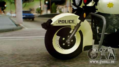 New Police Bike für GTA San Andreas zurück linke Ansicht