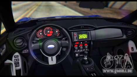 Subaru BRZ STi Concept 2016 pour GTA San Andreas vue intérieure