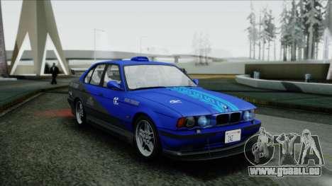 BMW M5 E34 US-spec 1994 (Full Tunable) pour GTA San Andreas vue de côté