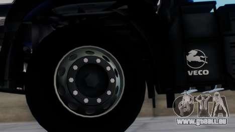Iveco EuroTech v2.0 pour GTA San Andreas sur la vue arrière gauche