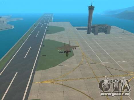 Le MiG 25 pour GTA San Andreas vue intérieure