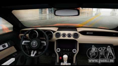 Ford Mustang Shelby GT350R 2016 pour GTA San Andreas sur la vue arrière gauche