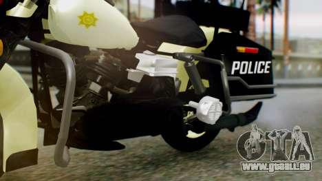 New Police Bike für GTA San Andreas rechten Ansicht