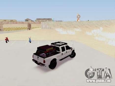 Ford F-250 Full Off-Road pour GTA San Andreas sur la vue arrière gauche