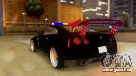 Nissan GT-R Police Rocket Bunny pour GTA San Andreas laissé vue