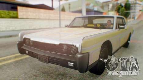 GTA 5 Vapid Chino Tunable pour GTA San Andreas vue de côté