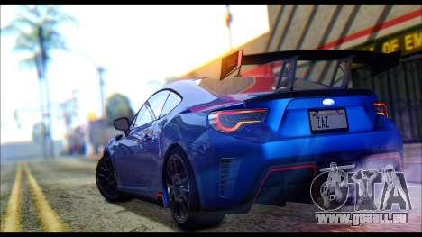 Subaru BRZ STi Concept 2016 pour GTA San Andreas vue arrière
