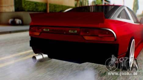 Nissan 240SX Drift v2 für GTA San Andreas Rückansicht