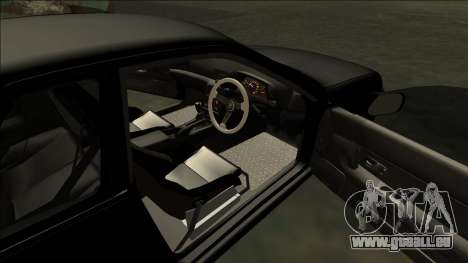 Nissan Skyline R32 Drift pour GTA San Andreas vue de dessous