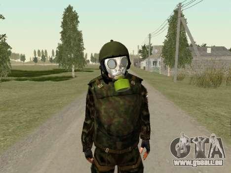 Russische Soldaten in der gas-Maske für GTA San Andreas