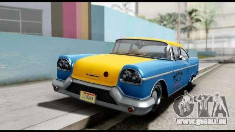 GTA 5 Declasse Cabbie v2 pour GTA San Andreas vue de droite