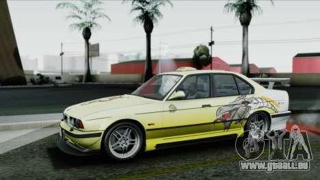 BMW M5 E34 US-spec 1994 (Full Tunable) pour GTA San Andreas vue de dessous