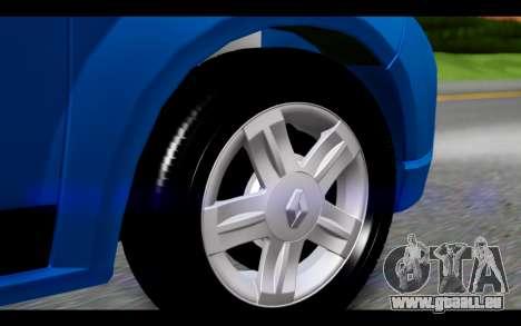 Renault Sandero für GTA San Andreas zurück linke Ansicht
