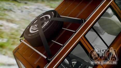 Jeep Cherokee 1984 4x4 pour GTA San Andreas vue arrière