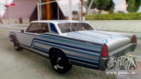 GTA 5 Vapid Chino Tunable für GTA San Andreas Innen